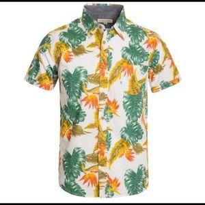 NWTlClearance Mens Tropical Button Sweat Collar